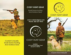 Cody Hunt Gear upland game bag dog training pack hunting pack