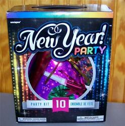 New Year Birthday Any Occasion Party Kits Hats, Necklaces, Horn, Noise Maker Nib