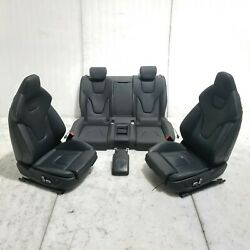 2013 13 14 AUDI RS5 B8.5 FRONT REAR SEAT SEATS ASSY BLACK LEATHER HEAT POWER OEM