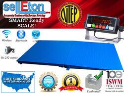 Ntep 5and039 X 5and039 60and039and039 X 60and039and039 Floor Scale With Ramp 2500 Lbs X 0.5 Lb/ Pallet Size