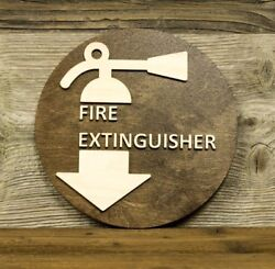 Fire Extinguisher Restaurant Office Home Hotel Door Sign Shop Plaque