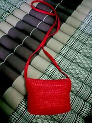 Handmade Hemp Craftsmanship Cross body Shoulder Bag Womens Grop Thailand Gift