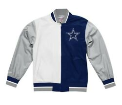 Authentic Dallas Cowboys Super Bowl 5x Champ Nfl Mitchell And Ness Warm Up Jacket