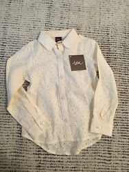 Tea Collection Embroidered Girls Long Sleeve Shirt Size 3t New With Tags