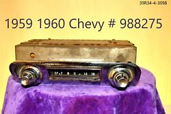 1950and039s Old Chevy Chevrolet Gm Delco Classic 988275 Car Dash Radio