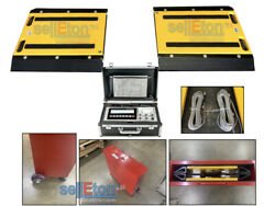 16 X 24 X 2 Two Portable Weigh Pads Indicator And Printer 50000 Lbs X 20 Lb
