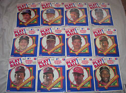 Lot-vintage Mlb-baseball Play Ball-collectible Plaques-mcgwire Clemens Mattingly