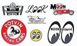 Moon Traditional Assorted Sticker Sheet Mooneyes Most Famous Decals