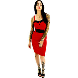Switchblade Stiletto Red Heart Darling Dress Retro Rockabilly Pin Up