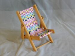 Wooden Lawn Chair For 18 Inch Dolls Handmade And New