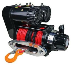 Electric Winch - 10000 Lbs Capacity - Dual 7.2 Hp Motors - 3 Stage 1081 Ratio