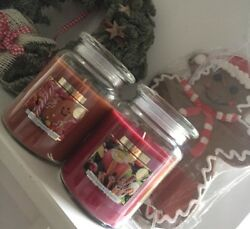 2x Big Candle Jar Wickford Large Luxury Scented Apple Cinnamon And Gingerbread