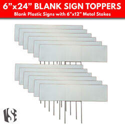 Lawn Sign Toppers And Stakes - Blank Sign Toppers For Yards And Gardens - 12 Pack