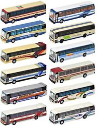Tomytec The Bus Collection No.24 12 Buses Randomly Packed 1/150 N Scale