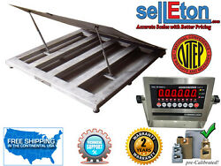 Ntep 48 X 48 4' Industrial Lift-up Top Stainless Steel Washdown Floor Scales