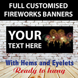 Fireworks Bonfire Night Sold Here Banner Sign Pvc With Eyelets + Custom Option 5