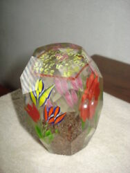 Unique Crystal Glass Paperweight Flowers Crystal Diamond Faceted