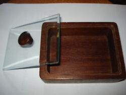 Vintage Old Wood Crystal Box Playing Cards/cigarette/candy Box Handmade