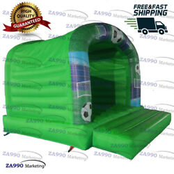 13x10ft Inflatable Design Soccer Bouncy House Jumping Trampoline With Air Blower