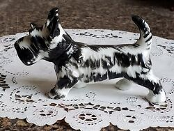Vintage Scottish Terrier Scotty Dog Figurine Japan ~ Black and White