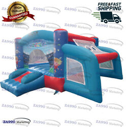 10x10ft Inflatable Soccer Football Jumping Bounce House With Air Blower