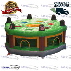 13ft Commercial Inflatable Human Whack A Mole Play Bouncy Game With Air Blower