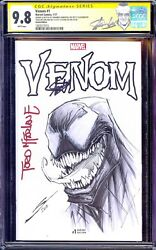 Venom 1 Cgc 9.8 Ss Stan Lee Todd Mcfarlane Gerardo Sandoval Sketch Nm Movie Hot