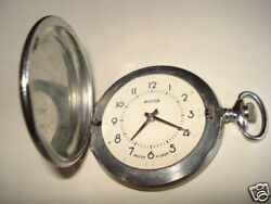 Vintage Molnia Pocket Watch For Blind Man Perfect Condi Works