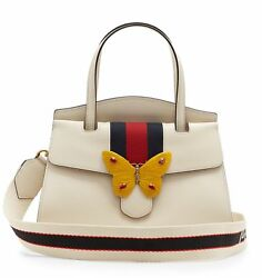 Gucci Totem Butterfly Tote Bag White One Size Authenticity Guaranteed