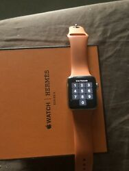 Apple Watch Hermandegraves 42mm Stainless Steel Case With Marine Gala Leather Single...