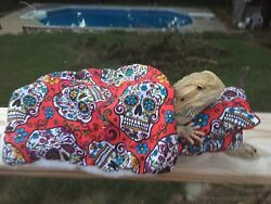 SPANISH SKULL PRINT LRG RESTING BED COVER ONLY NO FRAME BED 4 BEARDED DRAGONS