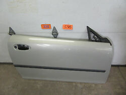CAR DOOR PANEL SHELL SILVER RIGHT PASSENGER SIDE fits 04-11 SAAB 9-3 CONVERTIBLE