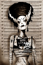 New Black Market Art Company Bride Mugshot Canvas Giclee Prints Made In The Usa