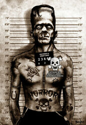New Black Market Art Company Franky Mugshot Canvas Giclee Prints Made In The Usa