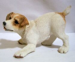 Adorable Lifelike Jack Russell Puppy Figurine