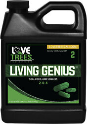 LIVING GENIUS Hydroponics Enzyme Root Additive Yield Bloom Booster Soil Coco