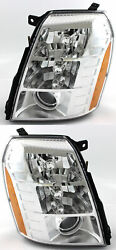For DRIVER+PASSENGER HID HeadLight LampS PAIR Fit 2007-2010 CADILLAC ESCALADE