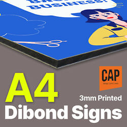 A4 Dibond Sign Printing On 3mm Aluminium | No Parking Safety No Entry Signs