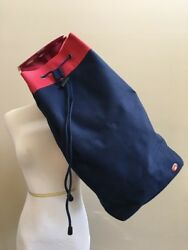 Rare SWELL CYNTHIA ROWLEY TARGET Large Travel Beach Sling Duffle Red Blue $19.78