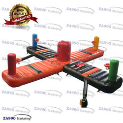 26x26ft Commercial Inflatable 4 Players Bungee Run And Basketball With Air Blower