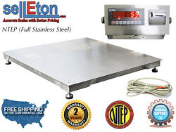 Ntep 60 X 60 5and039 X 5and039 Floor Scale Fixed Top Stainless Steel Washdown 5000 Lbs