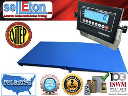New Ntep Legal Industrial 48 X 72 4and039 X 6and039 Floor Scale And Ramp 5000 Lb X 1 Lb