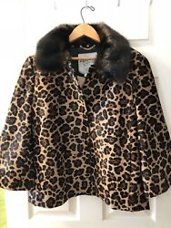SOLD OUT! NWT KATE SPADE LEOPARD PRINT CALF HAIR LEATHER JACKET SZ 8 Orig $1698