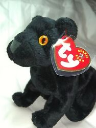 TY Beanie Baby - MIDNIGHT the Black Panther (5.5 inch) - MWMTs Stuffed Animal