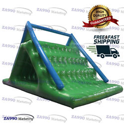 16x10ft Inflatable Triangle Floating Climbing Water Slide With Air Pump
