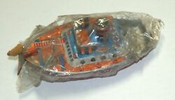 Vintage Tin Pop Pop Boat Metal Toy At Japan 1960's Sealed Steam Candle Accessory