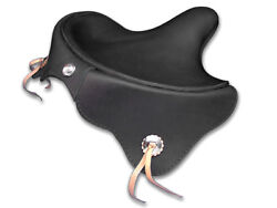Black 1939 Deluxe Solo Seat For Harley Knuckle Ul 45 Solo And Servi-car