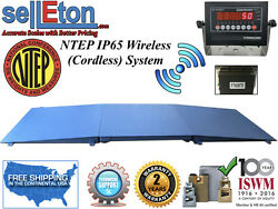 Ntep Floor Scale 48 X 48 4and039 X 4and039 Wireless Cordless 2 Ramps 10000 Lbs X 2 Lb