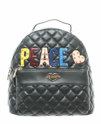 LOVE MOSCHINO Women's Bag Backpack JC4227PP06KC0850 Quilted Nappa PU Green Peace