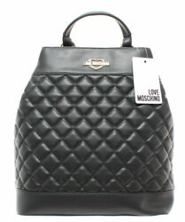 LOVE MOSCHINO Women's Bag Backpack JC4202PP06KA0850 Quilted Nappa PU Green Gold